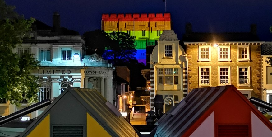 Norwich Castle  Pride Projection
