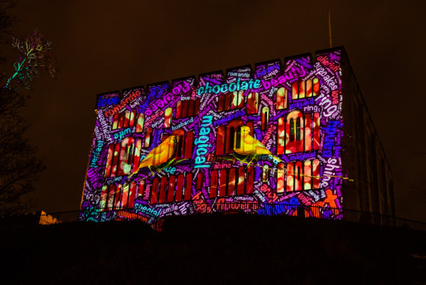 Castle Projection Love Light Festival Norwich