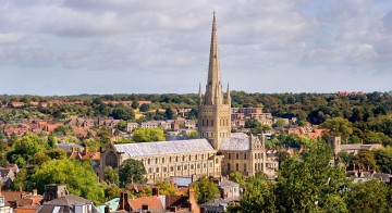 Norwich Cathedral City View